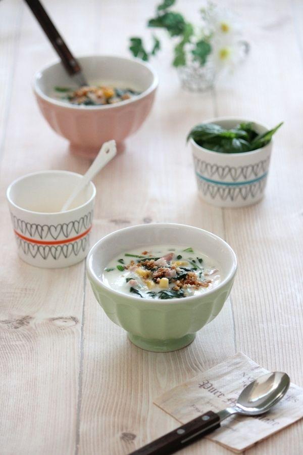 ほうれん草とコーンのクリームスープ。 by 栁川かおり | レシピサイト ...