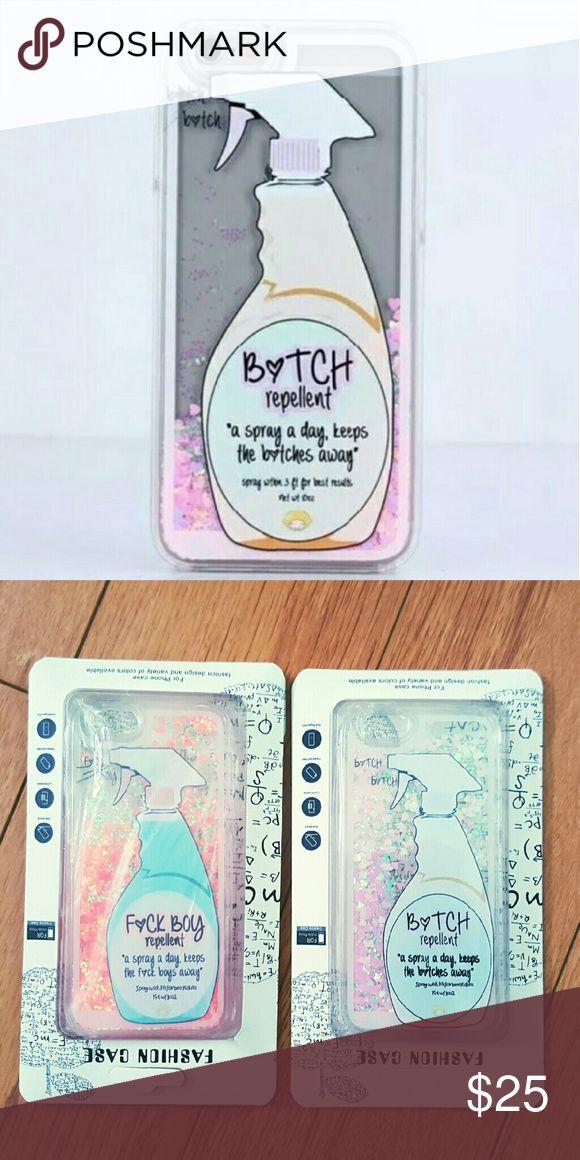 IPHONE 6 /6s Bitch repellent case NEW phone case Heart Glitter phone case Accessories Phone Cases