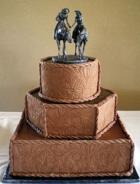 If we were doing cake i would SOOO have this minus the cake topper and throw in some horseshoes. LOVE IT!