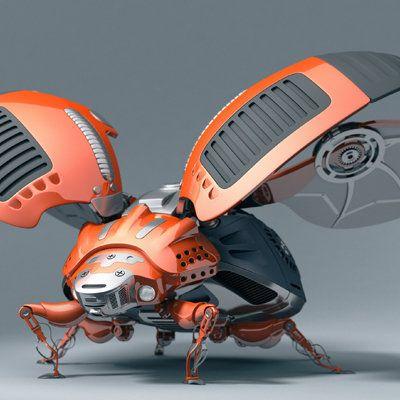 bugbot, Hongren Qiu on ArtStation at https://www.artstation.com/artwork/bugbot