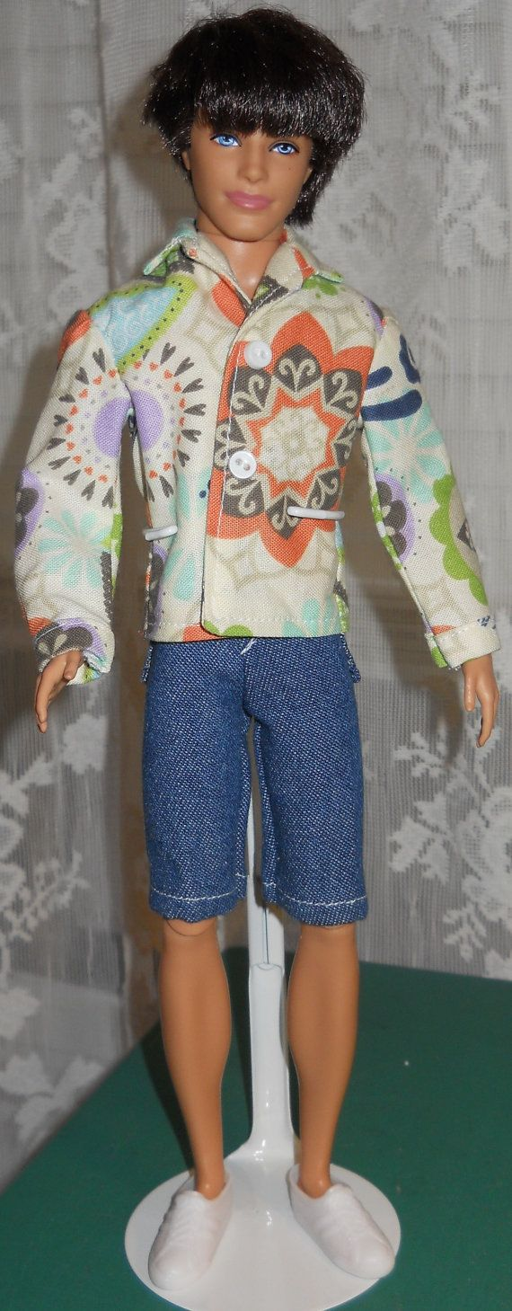 Handmade Ken Long Sleeved Shirt and Blue Jean by AuntieLousCrafts, $9.00