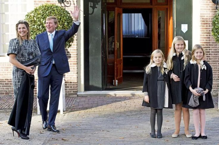 ♥•✿•QueenMaxima•✿•♥...Queen Maxima of Netherlands, King Willem-Alexander of Netherlands and Alexia, Ariane, and Amalia...Queen Maxima of the Netherlands attends the opening of the Brede School Joure Zuid in Joure.  (The Brede school is a collaboration between 2 primary schools, a welfare and childcare organization and an artcenter). 21 November 2014