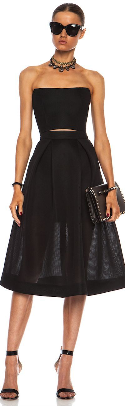Elegant Black Dress, Necklace, Heels, Clutch | Best Women's Fashion