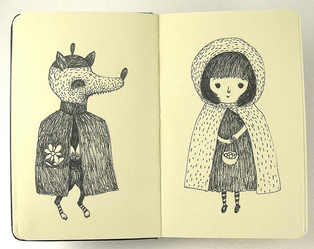 Red Riding Hood and Mr. Wolf. by Elsita (Elsa Mora)
