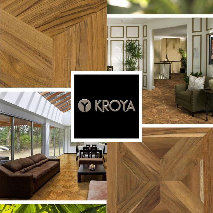Make your house everyone's favourite space with KROYA's new Teak Collections.  Floors : - KROYA Teak Cubes - KROYA Teak Sap Majestic Cross  #kroyafloors #hardwood #flooring #interiordesign #homedecor #decor www.kroyafloors.com