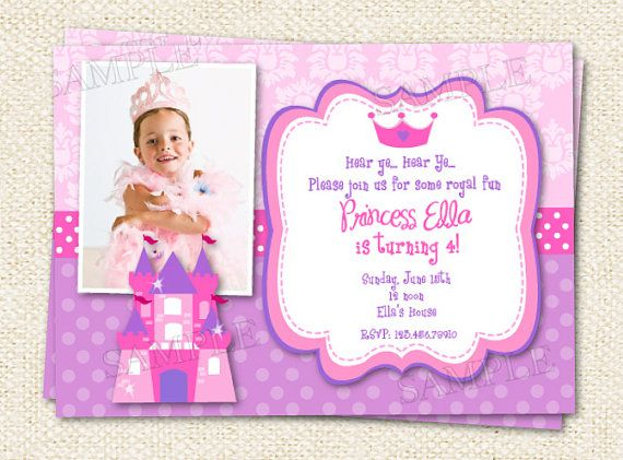 17 Best images about Birthday Invitations Princess Theme on – 3rd Birthday Invite Wording