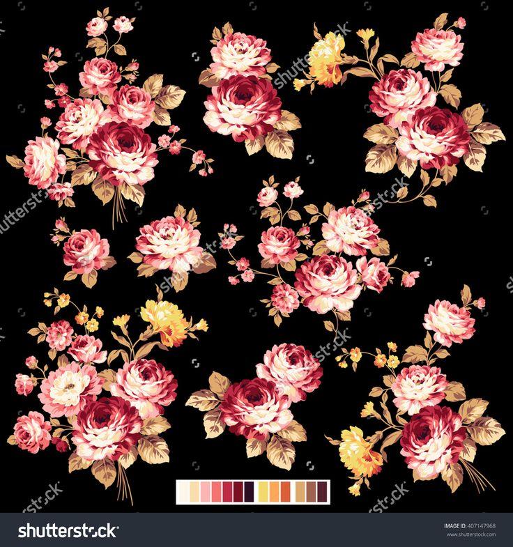 Rose Flower Illustration, - 407147968 : Shutterstock