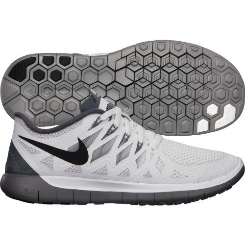 Nike Womens Free 5.0 Running Shoes White Black Platinum 642199 102