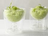 Wine, Honeydew, and Tarragon Granita Recipe (not for the kids, but rather a grown-up slushie!)