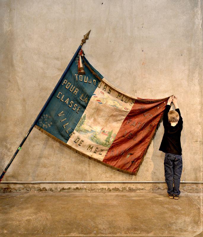 Huge Vintage French Parade Flag. image, Anne Lorys