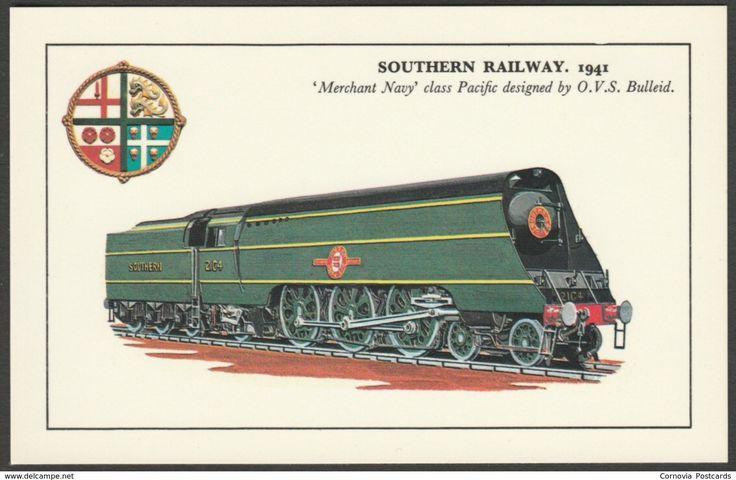 Southern Railway 'Merchant Navy' Class Pacific Locomotive - Photo Precision Postcard