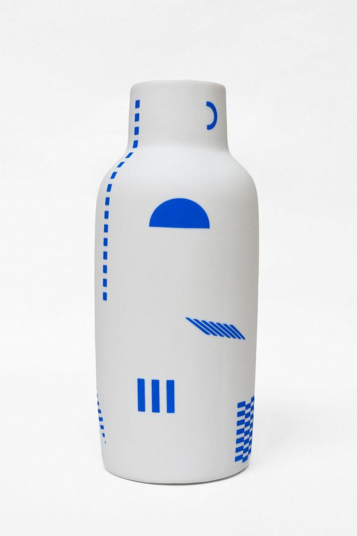 Beach Blanket Bottle Vase, by The Granite