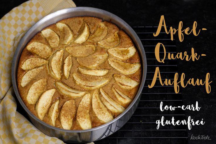 Apfel-Quarkauflauf glutenfrei und low-carb oder auch nicht