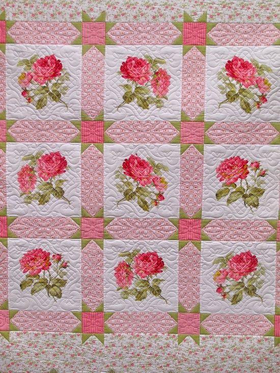 1328 best Floral Quilt Patterns images on Pinterest   Butterflies ... : beautiful quilt fabrics - Adamdwight.com