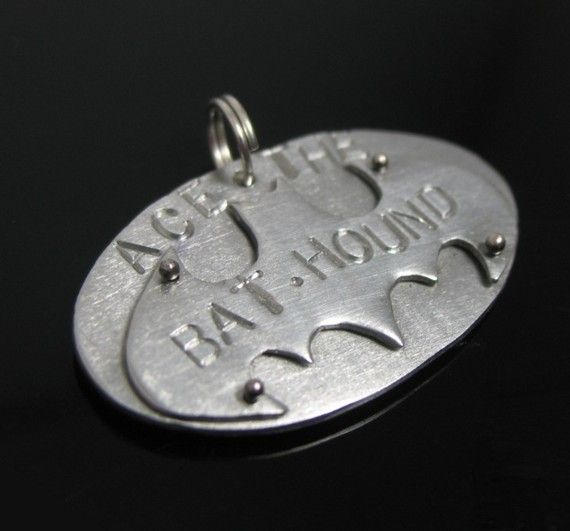 Bat Dog Pet Tag by yabettasupadont on Etsy, $22.00