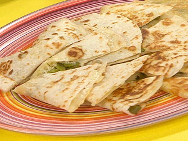Roasted Poblano Quesadillas Recipe : Rachael Ray : Food Network - FoodNetwork.com