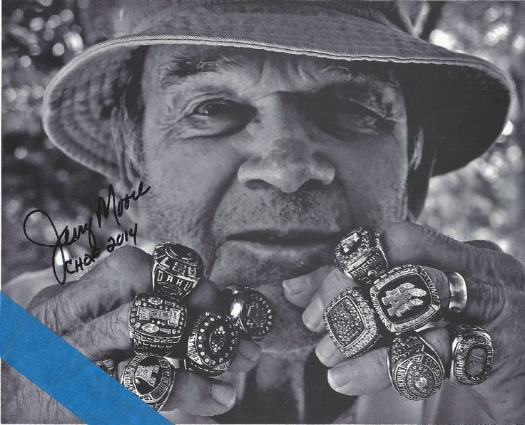 Appalachian State Football Jerry Moore Hand Signed Chof | eBay