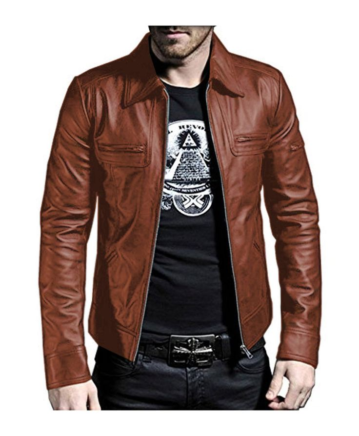 Laverapelle Men's Cognic TAN Genuine Lambskin Leather Jacket - 1510200 - 5XL