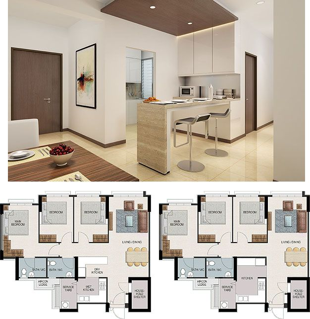 Remove kitchen wall extend cupboards out of kitchen and for Hdb 5 room interior design ideas