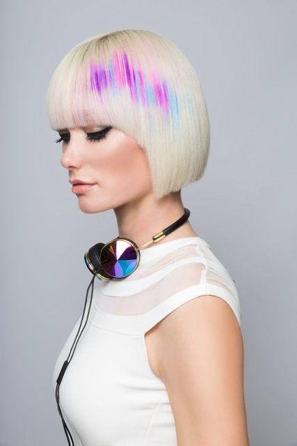 Pixelated Hair Color by  Pravana guest artist James Gartner #Manespiration