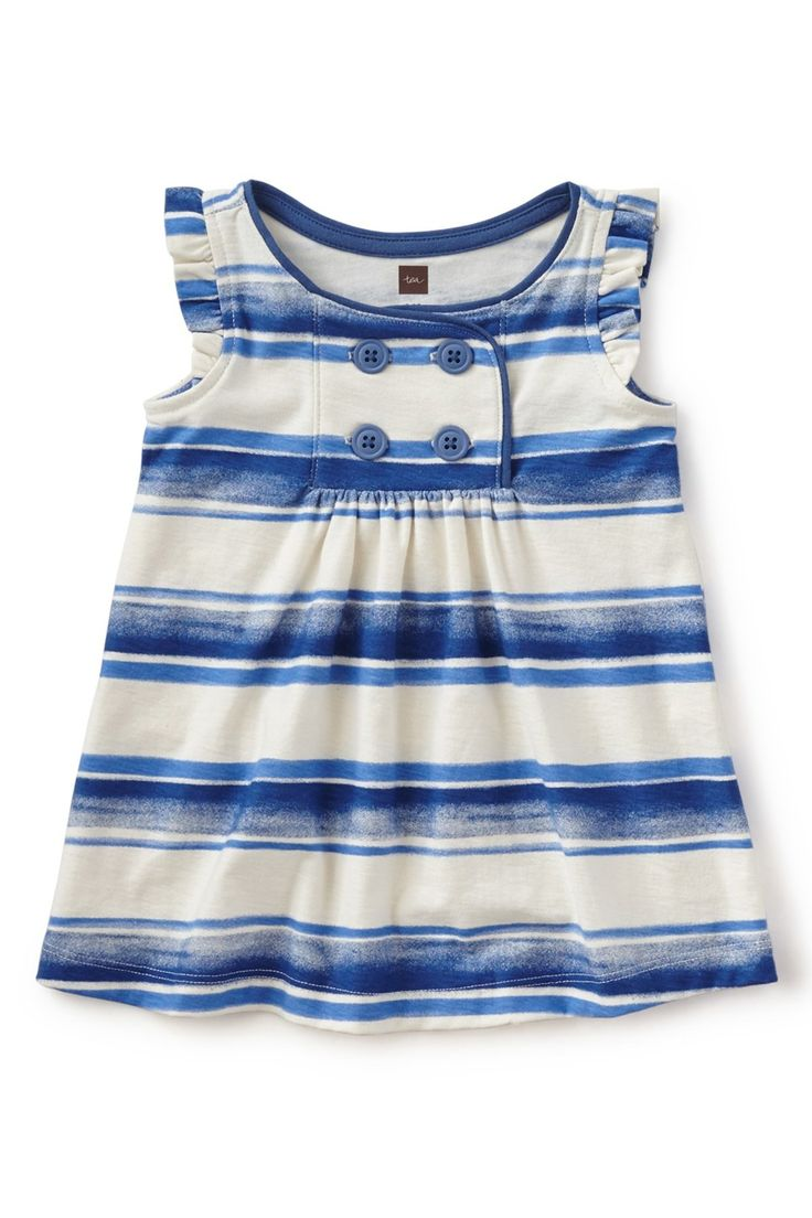 Lookout Point Stripe Dress (Baby Girls)