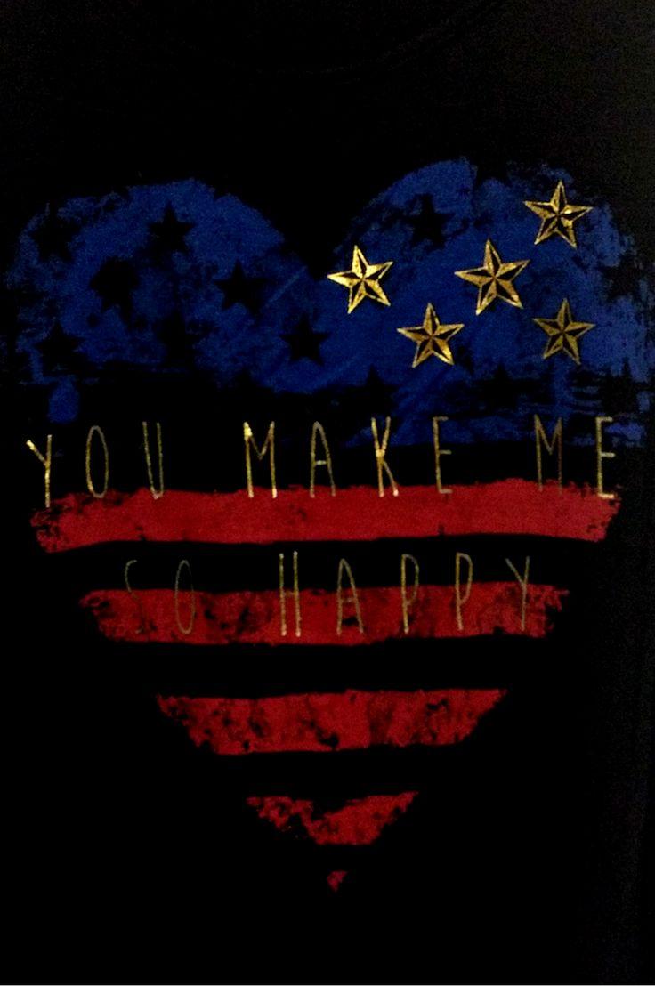 Black American Flag Tank Top! You Make Me So Happy!