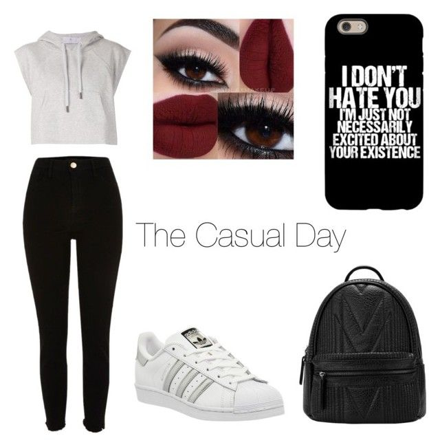"""""""Casual Day"""" by un-title-d on Polyvore featuring adidas"""