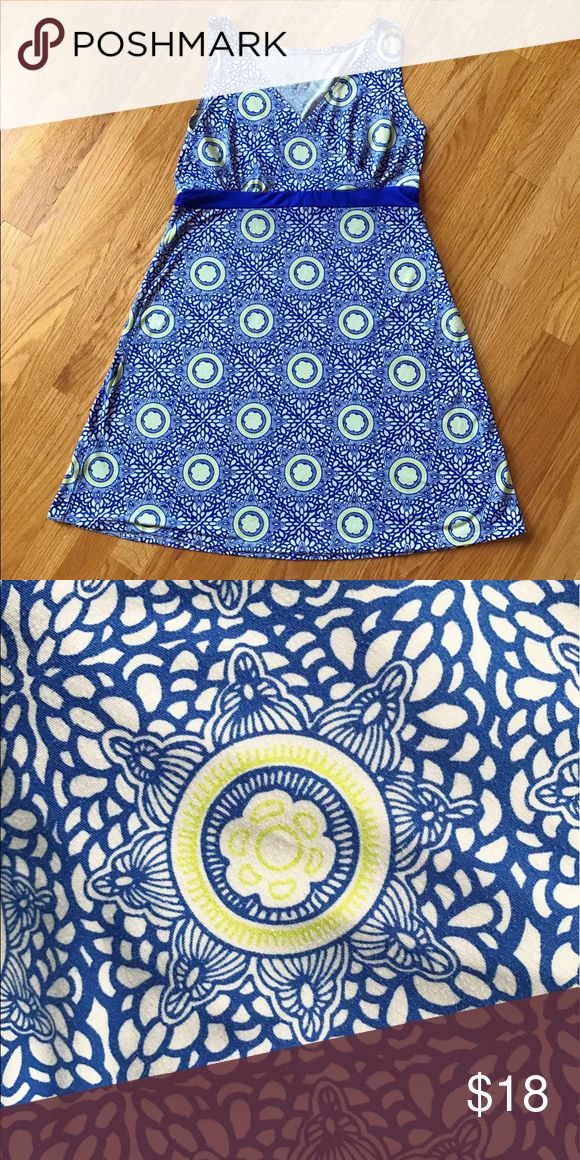 """LOLA by AFG Athletic Dress Super cute, soft and stretchy dress in colors of periwinkle blue, white and lime green. Materials: 92% Polyester 8% Spandex Bust 36"""" 34""""L. Lola by AFG Dresses"""