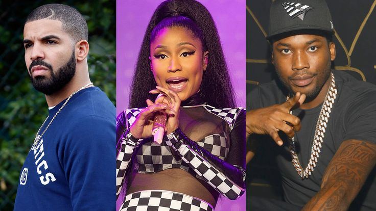 Drake, Nicki Minaj, and Meek Mill (Getty Images)