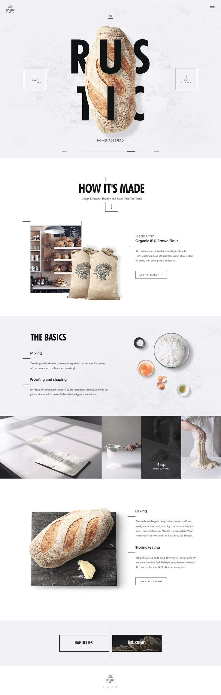 Ui concept #webdesign for a bakery project online.
