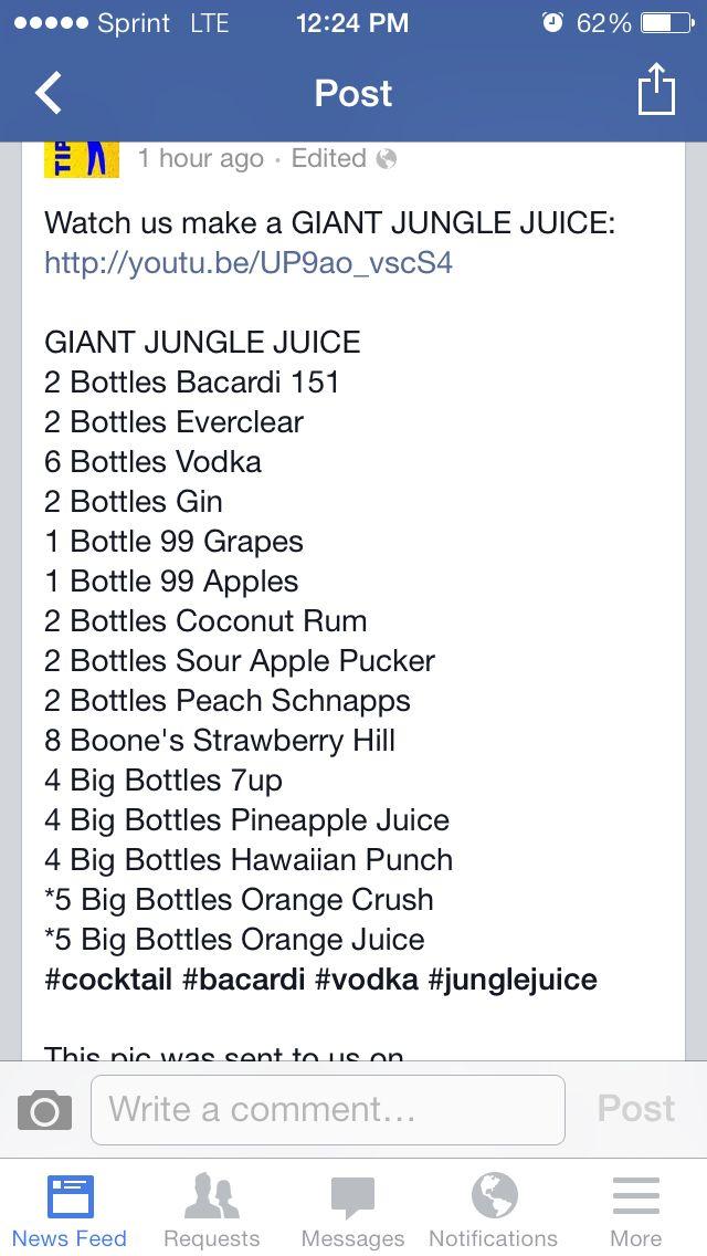 Giant jungle juice