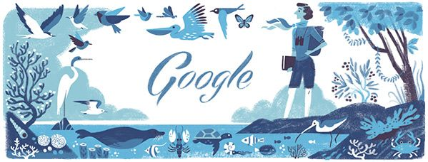 """""""Rachel Carson, a mild but determined scientist, was more than a controversial advocate for the natural world. She was, in multiple senses of the term, a force of nature.""""  Happy 107th Birthday!"""