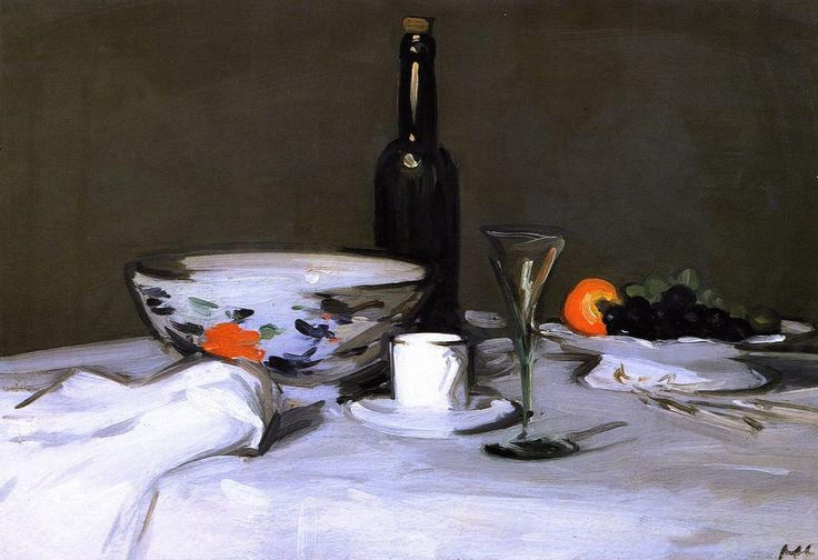 The Black Bottle - Samuel Peploe.