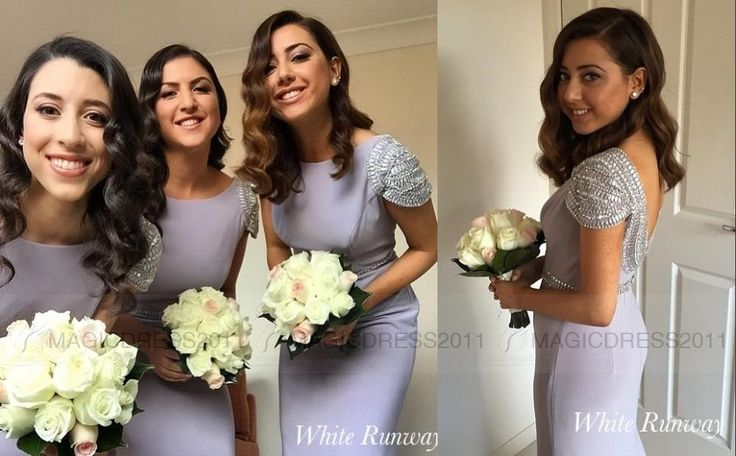 Cheap Long Bridesmaid Dress 2015 Mermaid Jewel Lavender Chiffon Maid Of Honor Dresses Beaded Formal Evening Gowns Party Dress Arabic White Bridesmaid Dress Wine Bridesmaid Dresses From Magicdress2011, $94.25| Dhgate.Com