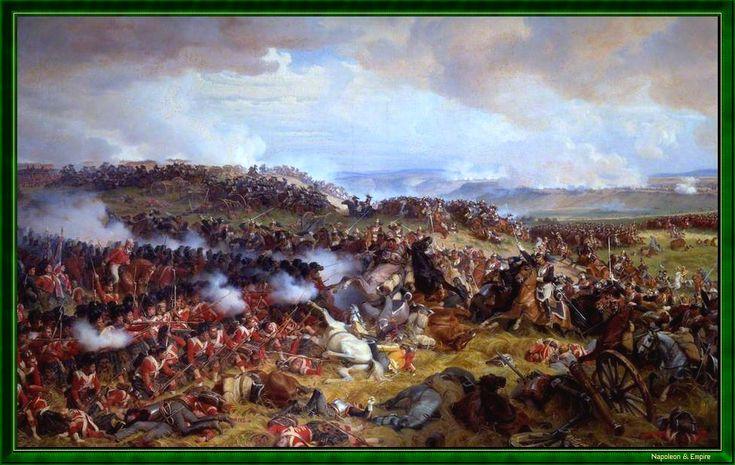 """""""Bataille de Waterloo - Charge des cuirassiers français"""". Peint en 1874 par Henri-Félix-Emmanuel Philippoteaux."""