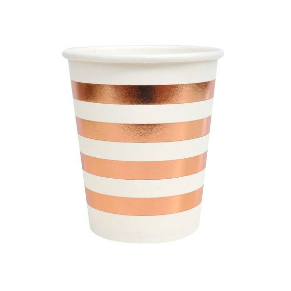 Totally on trend, these rose gold cups are perfect for punch! Dont forget to pick out some straws to match or snag the coordinating napkins and