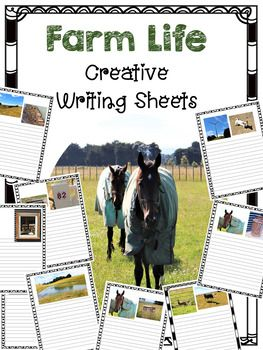 This great Creative Writing Sheets are perfect for . This set is perfect for fast finishers, students who need extension, for topics which focus on the farm and or farm animals. Students' can write a fiction story, a recount of an experience in which they have had on a farm, a non fiction report on an aspect of the farm, or