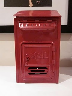 Our wedding guestbook! #guestbook #wedding #mailbox #DIY