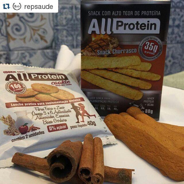 ALL PROTEIN EM GOIÂNIA - REP SAÚDE  Pessoal de #goiania podem encontrar os produtos proteicos @allprotein na loja @repsaude  Sugestão deliciosa para lanchinhos!  Cookies maçã com canela e  snack churrasco #allprotein! ✔️Baixa caloria; ✔️Alto teor de proteína; ✔️Baixo teor de sódio; ✔️Alta quantidade de fibras alimentares; ✔️Contém BCAA;....