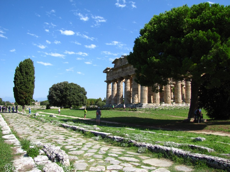 Inhaling history at Paestum, Italy.