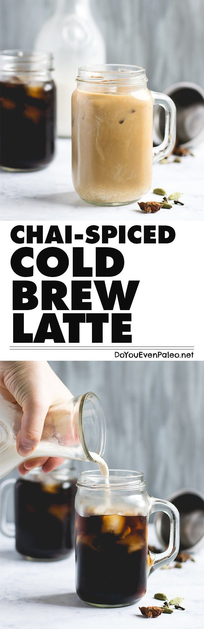 This blend of chai spices and cold brew coffee makes an unbeatable summer drink! It's gluten free, paleo, vegan, and just plain awesome. | DoYouEvenPaleo.net