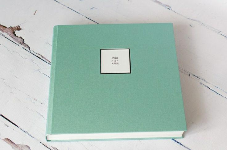 Queensberry Wedding Album | Mint Buckram Cover | Debbie Wallwork Photography #weddingalbum