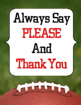 Classroom rules and manners created for a football theme classroom. Product was designed for a male classroom - but can be used in any type of classroom