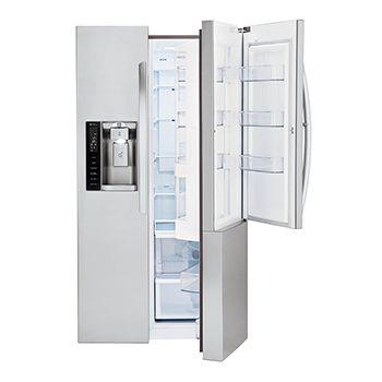Congelador de lado a lado de acero inoxidable congelador