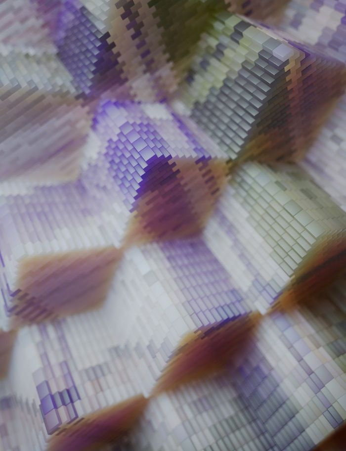 ZEITGUISED explore the micro structures of woven fabric and recreate as amazing digital 3D sculptures.