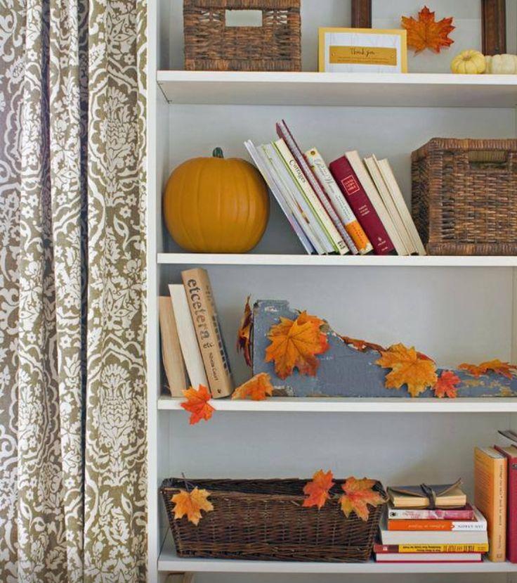 Fall decorating Lovely Home: Shelf Staging Pinterest