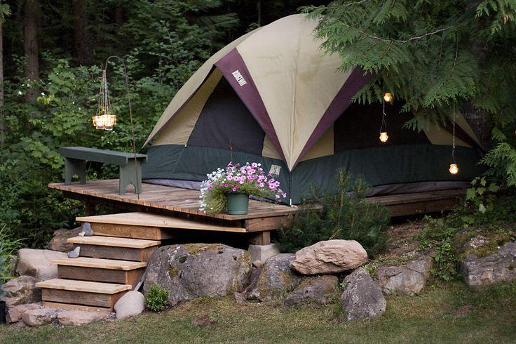 Backyard campsite