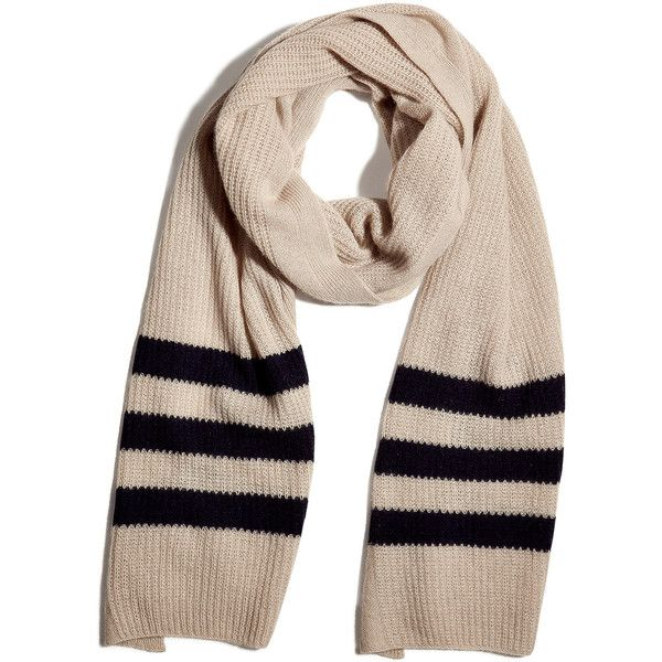 M.PATMOS Stone/Navy Cashmere Scarf (3.590 ARS) ❤ liked on Polyvore featuring accessories, scarves, oversized scarves, striped scarves, cashmere shawl, navy scarves and cashmere scarves