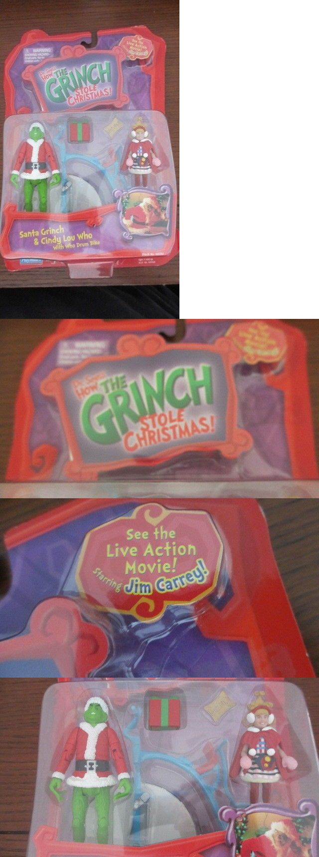 Dr Seuss 20906: Dr. Seuss How The Grinch Stole Christmas Playset- Santa Grinch And Cindy Lou Who -> BUY IT NOW ONLY: $34.99 on eBay!