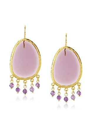 60% OFF Grand Bazaar Amethyst Charm Earrings